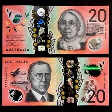 2019 AUSTRALIA 20 DOLLARS POLYMER P-NEW UNC> > >MARY REIBEY JOHN FLYNN DD PREFIX