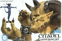 Games Workshop Layer Paint Set von Citadel Farben Paints GW 60-25 Pinsel Brush