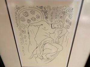 """Henri Matisse lithograph Reclining Nude In Chair 14x10"""" frame 24x20"""""""