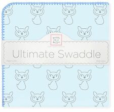 Swaddle Designs Premium Ultimate Swaddle Flannel Blanket  Gray Fox - Blue