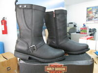 NEW Harley Davidson Mens Leather Boot Boots Shoes Medium Black Vincent