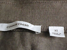 COUNTRY ROAD Short100%WoolStretchPanelledSkirtSzXS