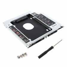 "Second HDD Caddy SATA 2.5"" HDD SSD 9.5mm Enclosure For Apple Macbook DVD ROM CD"