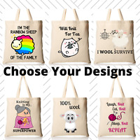 Knitting Wool Themed TOTE BAGS Ideal Presents Cute Gifts Mother's Nan's Birthday