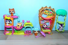 Littlest Petshop lot Meow Manor 2033 2034 Bamboo Bungalow 2469 2470 1317 1599