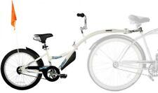 Child Ride On Half Bike Trailer Bicycle Attachment Kids Adjustable Steel White