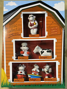 Option One Mortgage ~ Classic Cowllection ~ Set Of 6 Cow Figurines ~ NEW! RARE