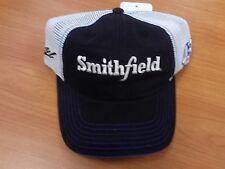 Aric Almirola #43 NASCAR Ball Cap Hat NEW Smithfield black & white mesh Petty