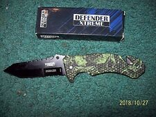 NEW DEFENDER XTREME TACTICAL TEAM SELF DEFENSE AND SECURITY BLADE ASSISTED LOCKI