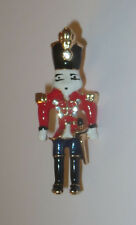 Nutcracker Pin New Gold Tone Crystal Accents Sword Christmas