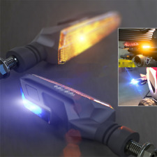2pcs Dual Light Motorcycle Indicator Turn Signal Amber / Blue DRL Tail Lamp 12V