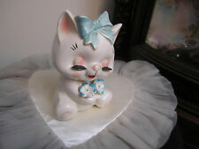 Vintage NAPCOWARE  Kitty Cat Vase Planter w/Eyelashes C-7439 RARE!!