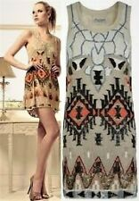 *ICONIC*ALL SAINTS AZTEC SEQUIN EMBELLISHED COCKTAIL MINI DRESS UK10-12 RRP £398