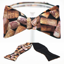 "BOW TIE ""3D CORKS"" 100% Cotton, Handmade by Remarkable Bowties - #Rem-FD-WC-1117"