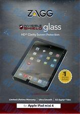 ZAGG Authentic InvisibleShield Glass iPad Mini 4 IM4GLS w/ Warranty