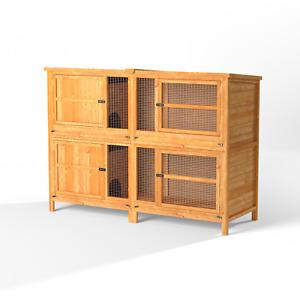 6ft XL Chartwell 2Tier Rabbit Guinea Pig Pen Pet House Garden Separate Tiered