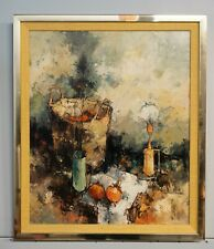 SIGNED Modernist ALDO PAOLUCCI STILL LIFE OIL PAINTING Mid Century Art