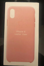 Genuine Apple iPhone X Leather Case Soft Pink Authentic Real Leather Cover