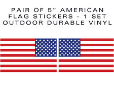 """American Flag 5in stickers-Pair of decals 5"""" military USA US VINYL"""