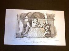 Incisione rame del 1851 Congiura di Gianluigi Fieschi contro i Doria di Genova