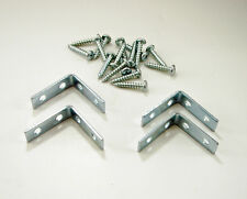 "4 Pack 1-1/2"" x 1-1/2"" x 1/2"" Corner Braces W/Screws - Zinc Finish   CB-15"