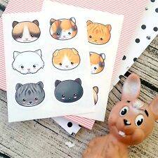 Kawaii cat stickers, Cute cat Stickers, Kawaii stickers, Kawaii kitty, animal