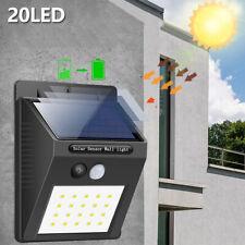 sécurité mur capteur mouvement PIR actionné solaire 20LED allume lampe extéri SH