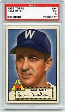 1952 TOPPS BASEBALL #94 SAM MELE, WASHINGTON SENATORS - PSA 5 EX (03377)