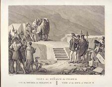 España. Madrid. «Vista del Peñasco de Felipe II». Alexandre Laborde (1810-11)