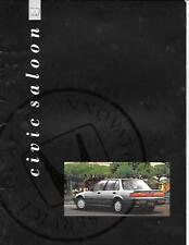 HONDA CIVIC SALOON SALES BROCHURE JUNE 1990