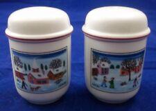 Villeroy & and Boch NAIF CHRISTMAS LAPLAU salt and pepper cruet pots