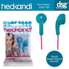 Hed Kandi EX073 Kandies Sweet Stereo Sound In-Ear Earphones Buds - Turquoise