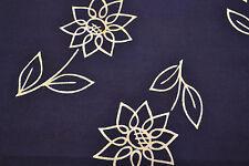 Japanese Yukata cotton Flowers blue and white 593