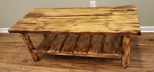 Torched Cedar Log Coffee Table - $259 -  Free Shipping