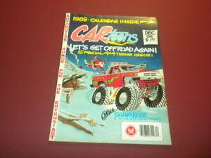 CARTOONS magazine - 1988 December - CAR TOONS - hot rods racing cars PETERSEN