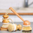 3 Pack Scrub Brushes Bamboo Dish Brush Wooden Cleaning Scrubbers Set  Pots Pans