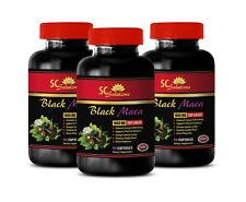 muscle growth gains booster - BLACK MACA - energy boost for women 3 BOTTLE