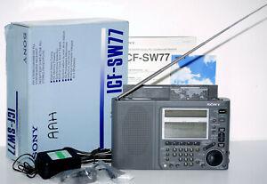 SONY ICF-SW77 Weltempfänger/World Band Receiver inkl. Zubehör+OVP! +1J.Garantie!