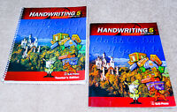 BJU Bob Jones 5th grade HANDWRITING 5 SET  Student Workbook  Teacher Edition