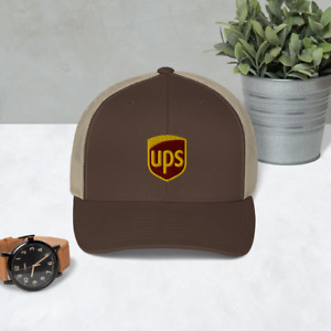 United Parcel Service Retro Trucker Hat Yupoong Embroidered Adjustable Cap Hat