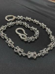 Sterling silver 925 Wallet chain Crown Vintage Key Chain Rock Punk Biker