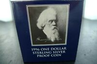 .1996 $1 SILVER PROOF COIN. SIR HENRY PARKES. MINT CONDITION WITH COA.