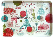 Torchons & Bouchons Paris Monuments EIFFEL TOWER/MOULIN ROUGE French Medium TRAY