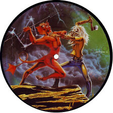 "EX! IRON MAIDEN RUN TO THE HILLS 7"" VINYL PICTURE PIC DISC"