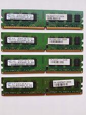 Samsung 8GB (4 X 2 GB) DDR2 RAM PC2-6400U, FSB 800 MHz, CF7, Dual Channel Mode