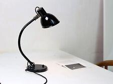 Alte Ebolicht Bauhaus Schreibtischlampe mit Emaille Schirm - restauriert!