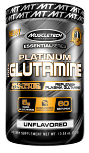 MuscleTech Platinum 100% Glutamine 302 grams Muscle Recovery