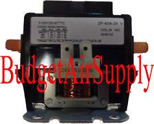 1 ea 2 pole Contactor 40 amp 24va Definite Purpose Magnet Universal-ALL BRANDS