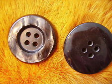 45 mm 1 3/4'' inch PEARL  BROWN   BUTTON FOR SABLE FOX MINK FUR COAT A15