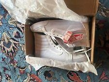 ★★★ VANS in pelle  ★★★ - scarpe unisex tg. 40.5 - Pelle bianca perforata
